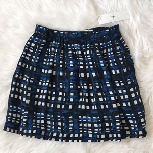 NWT Thakoon Addition Gathered Navy Print Skirt